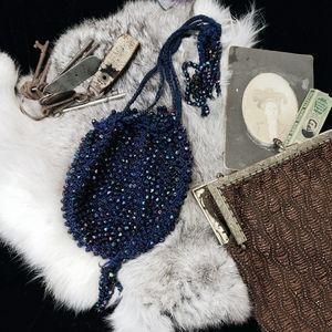 Vintage 1940s beaded purse!